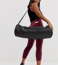Черная стеганая сумка-чехол для спортивного коврика South Beach-Черный