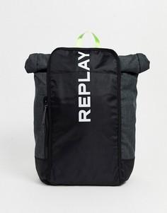 Спортивный рюкзак с логотипом Replay-Серый