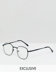 Черные квадратные очки с прозрачными стеклами Reclaimed Vintage inspired-Черный