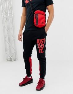 Черные джоггеры скинни с логотипом Nike JDI 931903-012-Темно-синий