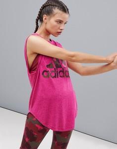 Малиновая майка adidas Training Winners-Розовый