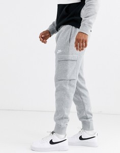 Серые джоггеры карго с манжетами Nike-Серый