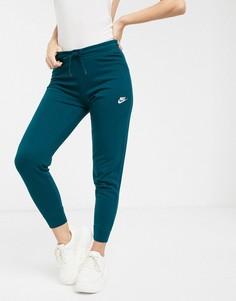 Темно-синие узкие джоггеры Nike-Синий