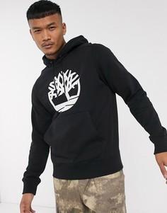 Худи черного цвета с крупным логотипом на груди Timberland-Черный