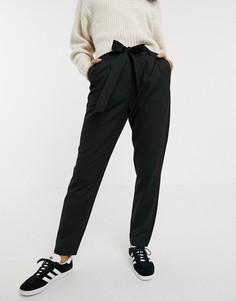 Узкие брюки Selected-Черный
