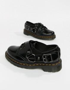 Черные кожаные туфли на плоской подошве с ремешками Dr.Martens Fulmar-Черный