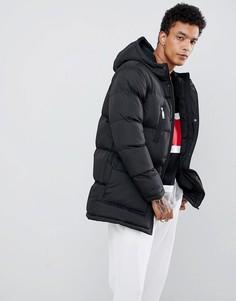 Черная дутая куртка Criminal Damage-Черный