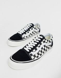 Черные кроссовки с шахматным узором Vans Anaheim Old Skool 36 DX-Черный