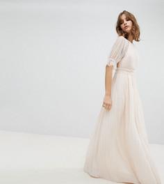Плиссированное платье макси TFNC-Розовый