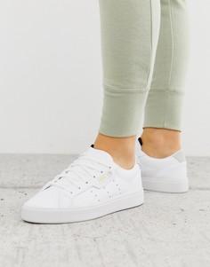 Белые кроссовки adidas Originals Sleek-Белый