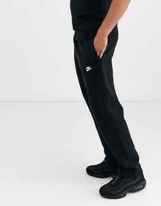 Черные джоггеры прямого кроя Nike Club-Черный