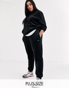 Черные вельветовые джоггеры свободного кроя Nike Plus-Черный