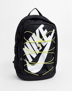 Черный рюкзак с желтой шнуровкой Nike