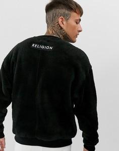 Черный свитшот с логотипом Religion
