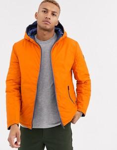 Оранжевая двусторонняя дутая куртка Celio-Оранжевый