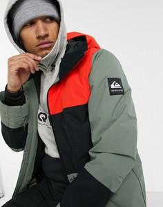 Зеленая лыжная куртка Quiksilver-Зеленый
