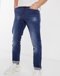 Ярко-синие джинсы прямого кроя New Look-Синий