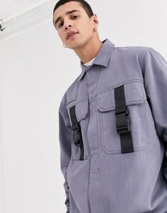 Синяя куртка-рубашка с карманами The Ragged Priest-Синий