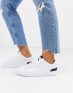 Белые/темно-синие кроссовки Puma ralph sampson-Белый