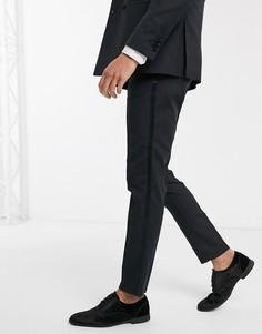 Черные брюки под смокинг Jack & Jones-Черный