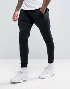 Черные узкие джоггеры из флиса Nike 805162-010-Черный