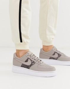Кроссовки с блестящей отделкой Nike - Air Force 1 07-Мульти