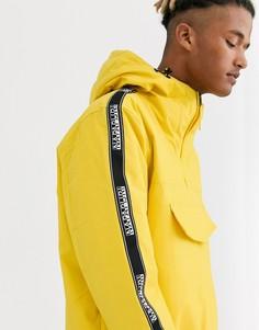 Желтая куртка с фирменной лентой Napapijri-Желтый