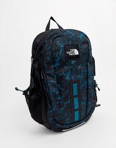 Рюкзак синего, кораллового и черного цвета The North Face 94-Синий