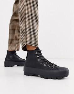 Высокие походные ботинки из черной кожи на массивной подошве Converse Goretex Chuck Taylor-Черный