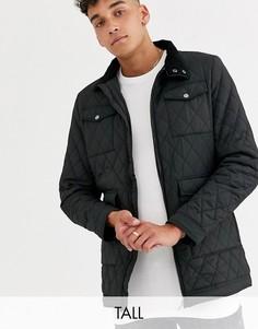 Черная стеганая куртка с карманами Jacamo-Черный
