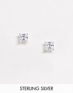 Серебряные серьги-гвоздики Kingsley Ryan - 5 мм-Серебряный