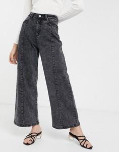 Черные широкие джинсы с принтом тай-дай FAE-Мульти