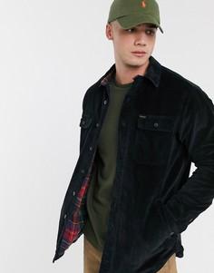 Черная вельветовая куртка на фланелевой подкладке в клетку тартан Polo Ralph Lauren-Черный