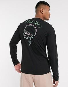 Лонгслив с принтом черепа на спине Bolongaro Trevor-Черный