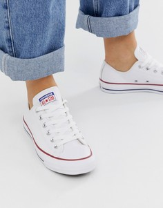 Белые кожаные кеды Converse Chuck Taylor Ox-Белый