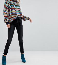 Узкие джинсы с классической талией Monki Mocki-Черный