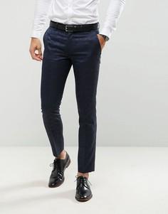 Жаккардовые брюки зауженного кроя под смокинг Farah-Темно-синий