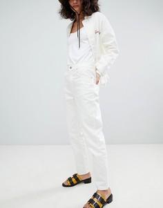 Джинсы в винтажном стиле Uncivilised-Кремовый