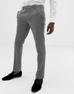 Супероблегающие брюки с рисунком в ломаную клетку Twisted Tailor-Черный