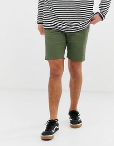 Зеленые саржевые шорты чиносы Farah Hawk-Зеленый
