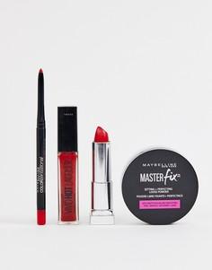 Набор средств для макияжа губ Maybelline Killer Red - Скидка 11%-Красный