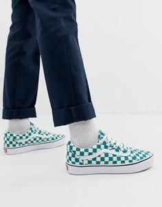 Кроссовки в зеленую клетку Vans Comfycush Old Skool-Зеленый
