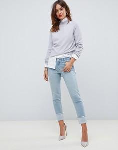 Прямые джинсы с отворотами J Brand Sadey-Синий