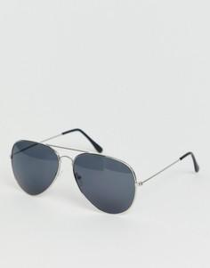 Серые солнцезащитные очки-авиаторы SVNX-Серый 7X