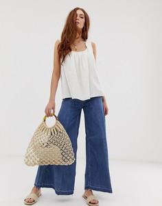 Широкие джинсы Free People Extreme-Синий