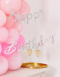 "Флажковая гирлянда \""Happy Birthday\"" Ginger Ray-Мульти"