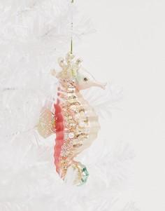 """Новогоднее украшение с дизайном \""""морской конек\"""" Sass & Belle-Мульти"""