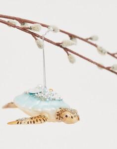 """Новогоднее украшение с дизайном \""""черепаха\"""" и блестками Sass & Belle-Мульти"""