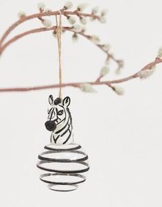 Новогоднее украшение в виде фигурки зебры Sass & Belle luxe-Мульти