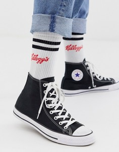 """Спортивные носки с принтом \""""Kelloggs\"""" ASOS DESIGN-Белый"""